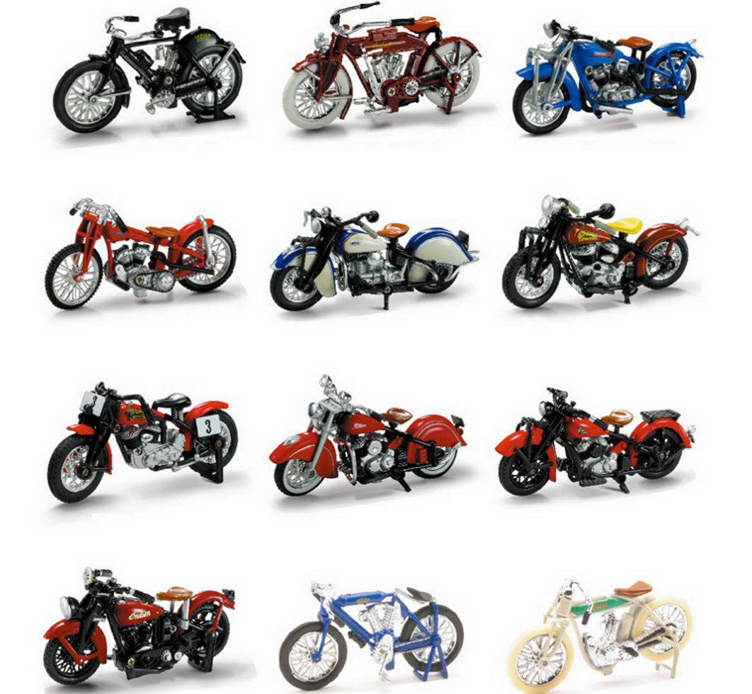 1 32 Scale D C Indian Bike Assortment New Ray Toys Ca Inc
