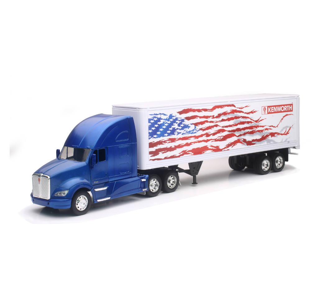 NEW RAY SS-15333X KENWORTH W900 PATRIOTIC GRAPHIC TRUCK TRAILER 1//43